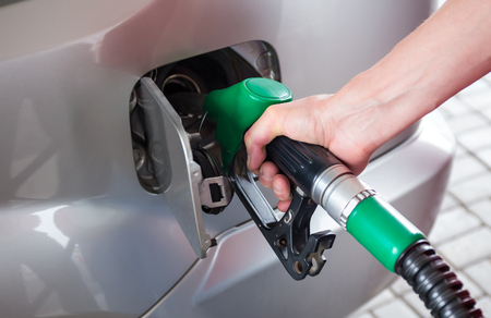 fill up: Fill up fuel at petrol station Stock Photo