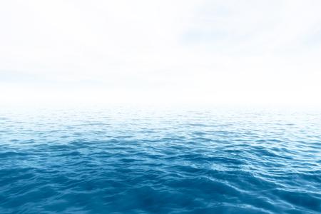 olas de mar: El mar y el cielo