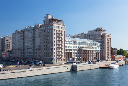 nomenclature: MOSCOW - JULY 25: The House on the Embankment on July 25, 2015 in Moscow. The house was completed in 1931 as the Government Building, a residence for the Soviet elite. It was designed by Boris Iofan. Editorial