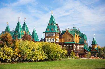 tsar: Recreated wooden palace of Tsar Alexei I Mikhailovich in Kolomenskoye, Moscow, Russia