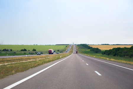 intercity: Intercity highway with traffic in Russia