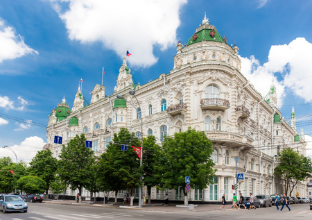 duma: ROSTOV-ON-DON, RUSSIA - JULY 17: City Duma building in the city center on June 17, 2015 in Rostov-on-Don. Parliament of Rostov-on-Don is composed of 35 deputies. The term of office of Parliament - 5 years.