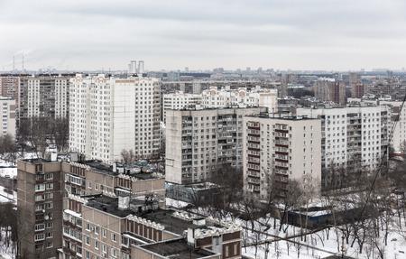 urbanism: Soviet district development in Moscow, Russia
