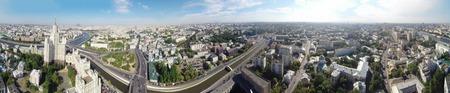 kotelnicheskaya embankment: Seamless panorama of Moscow with Kotelnicheskaya Embankment Building and Tagansky district, Russia