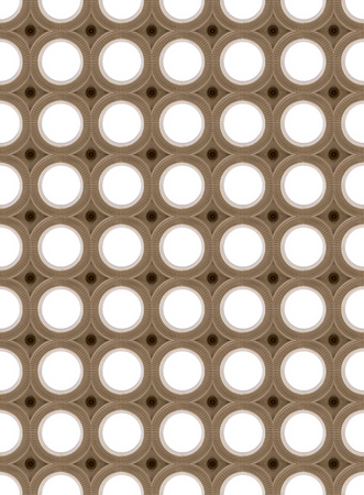 electrolier: Seamless picture of lighting circles, art-deco stile Stock Photo