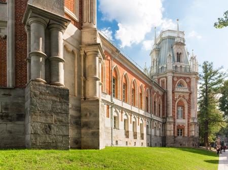 tsaritsyno: Detail of the grand palace in Tsaritsyno, Moscow