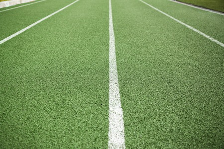 lanes: Green lanes on a running track