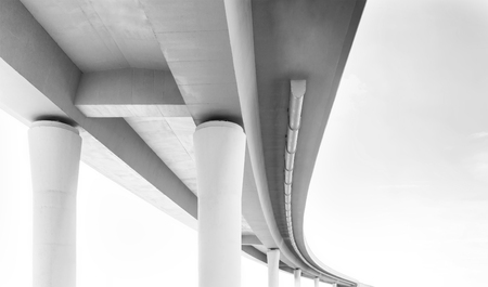 the view from below: Concrete overpass, view from below.