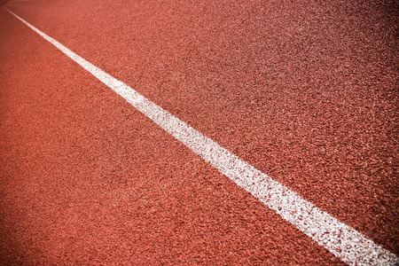 scabrous: Red lane on a running track