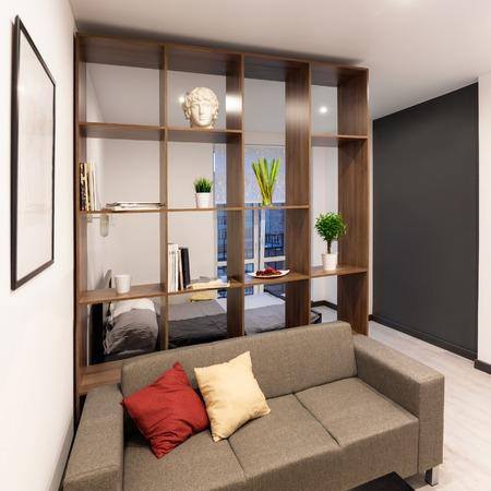 modern living: Living room in modern apartment Stock Photo