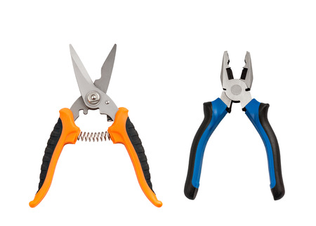 Isolated set of pliers and nippers