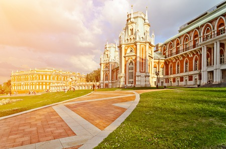 The palace in Moscow museum-reserve Tsaritsyno, Russia