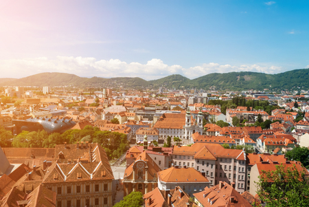 Panoramic view of the austrian city of Graz