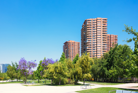 Public area in Las Condes commune in Santiago, Chile