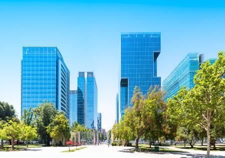 Commercieel centrum Nueva Las Condes in Santiago, Chili Stockfoto