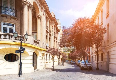 Beautiful historic neighborhood Barrio Paris-Londres in Santiago, Chile Stock Photo