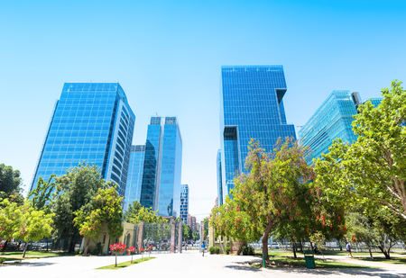 Commercial center Nueva Las Condes in Santiago, Chile Фото со стока