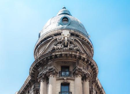 The dome of Santiago Stock Exchange (Bolsa de Comercio), Chile Stock Photo