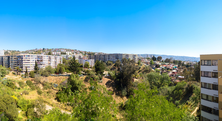 Panoramic view ofthe hill of Vina del Mar, Chile