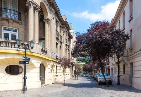 Beautiful historic neighborhood Barrio Paris-Londres in Santiago, Chile Stok Fotoğraf