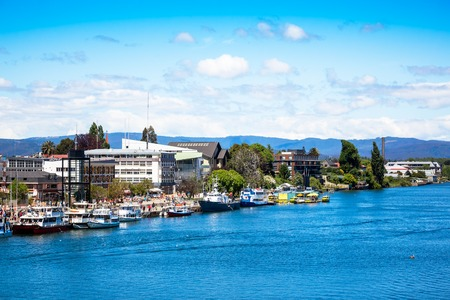 Valdivia view and Calle-Calle River, Chile