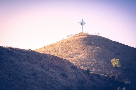 Hill with cross on the top