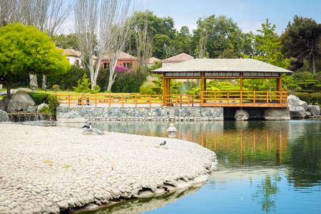 Beautiful japanese garden in La Serena, Chile Standard-Bild