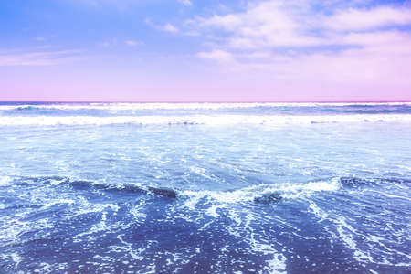 Beautiful waves of the pacific ocean in La Serena, Chile