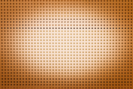 Yellow metal hole sheet texture closeup  background photo