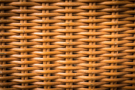 basketry: Closeup of nature rattan basketry pattern  background Stock Photo