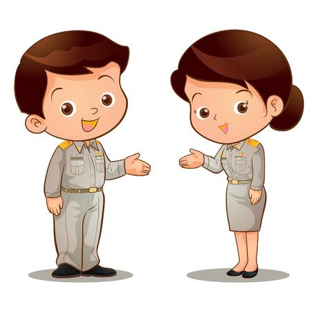 タイの公式服装を招待します。  イラスト・ベクター素材