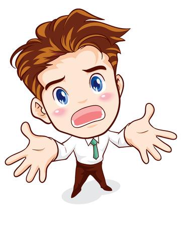 despondent: office man office man ignore surrender action