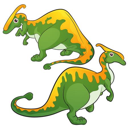 pettifogs: Cute Dinosaurs vector cartoon Parasaurolophus