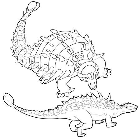 pettifogs: Cute Dinosaurs vector cartoon ankylosaurus Illustration