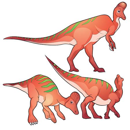 pettifogs: Cute Dinosaurs vector cartoon corythosaurus