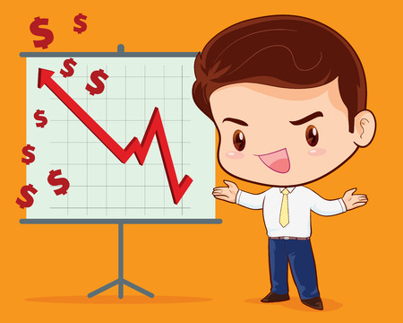 brief: business man presenting with success brief