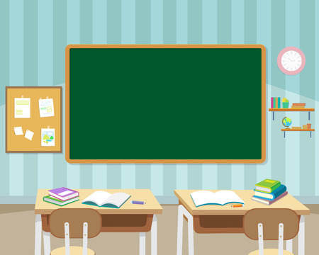 back to school with chalkboard and books background template.Can be used for web banner, backdrop, ad, promotion.