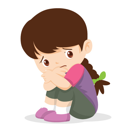Illustration of a sad child