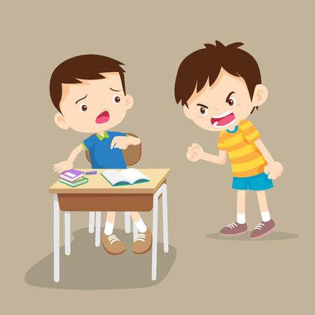 zły dzieci. Kłótnie dzieci. zły chłopiec krzyczy na friend.Raging kids.children krzycząc do siebie.