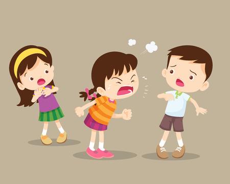 Enfants en colère Fille Rampage et son amie