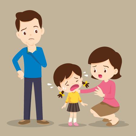 niños tristes quiere abrazar. familia Comforting Upset Elementary