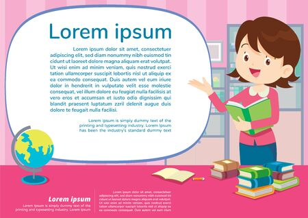 teacher and student learning poster,Education and learning poster back to school template., school activities.