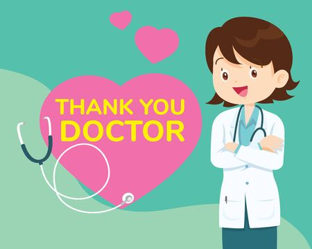Thank you doctor and Nurses and medical personnel team for fighting the coronavirus. Thank you heroes Ilustracja