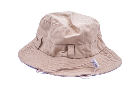 insolaci�n: bucket hat on over white background
