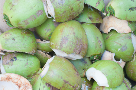 drank: Division coconut shell after drank Juice