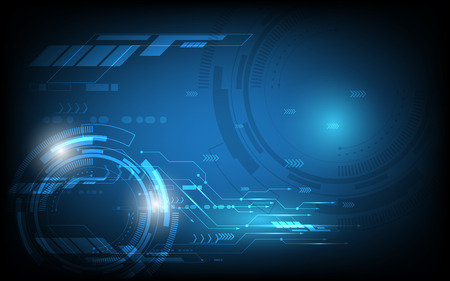 Abstracte technologieachtergrond Hi-tech communicatie concepten futuristische digitale innovatieillustratie als achtergrond Stock Illustratie
