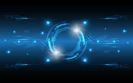 Fond de technologie abstraite Hi-tech communication concept innovation fond vector illustration Vecteurs