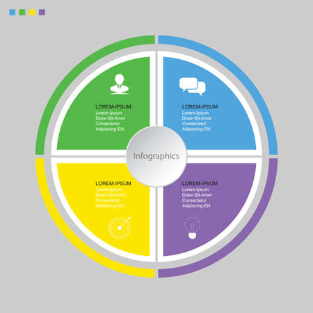 Infographic design vector Business concept steps or processes can be used for workflow layout, diagram, annual report, web design