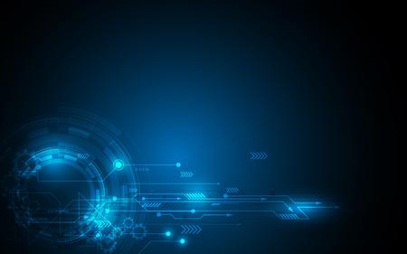 추상 기술 배경 하이테크 통신 개념 미래의 디지털 혁신 배경 벡터 일러스트 레이 션 일러스트