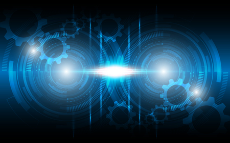 Abstract technology background Hi-tech communication concept innovation background vector illustration Ilustração